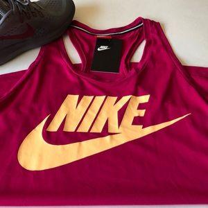 Pink Nike New Tank size Medium orange letters